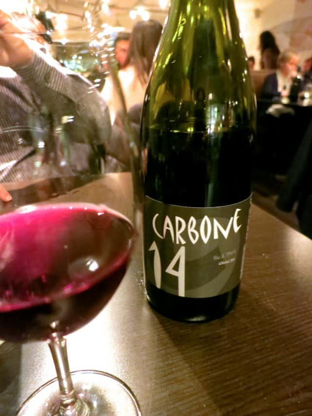 Carbone 14 Wine at Pastaga in Montreal Canada