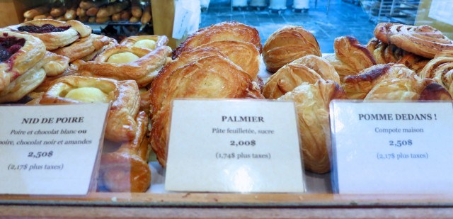 Pastries at Le Fromentier in Montreal Canada