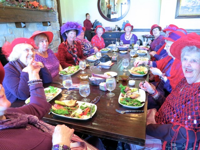 Red Hat Society at Hotel Hershey's Harvest