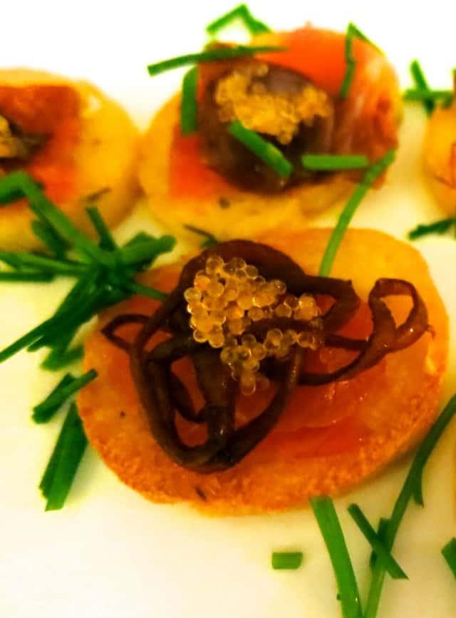 Gravlax, Polenta, Red Onion and Caviar Feast of the Eleven Fishes Philadelphia