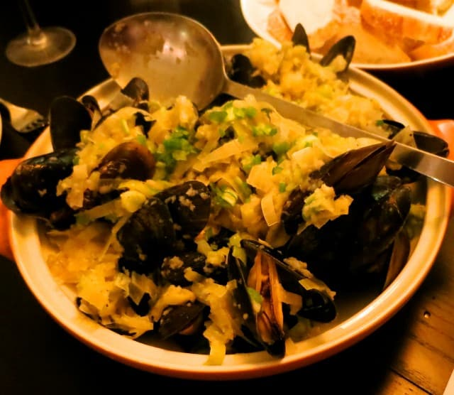 Mussels, Leeks, Garlic and Green Onion Feast of the Eleven Fishes Philadelphia