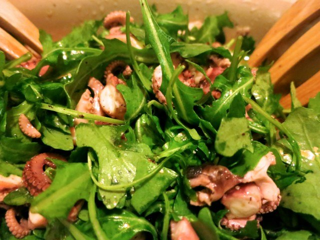 Pickled Octopus and Baby Arugula Feast of the Eleven Fishes Philadelphia
