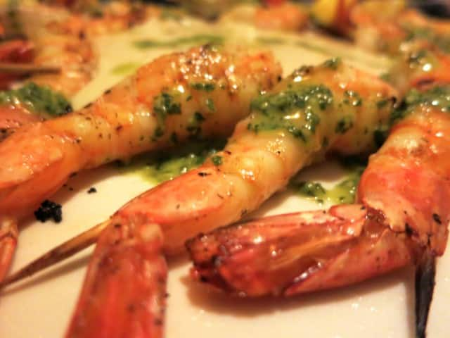 Grilled Shrimp with White Bean Puree Feast of the Eleven Fishes Philadelphia