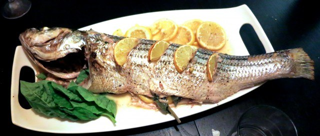 Whole Striped Bass, Fennel and Lemon