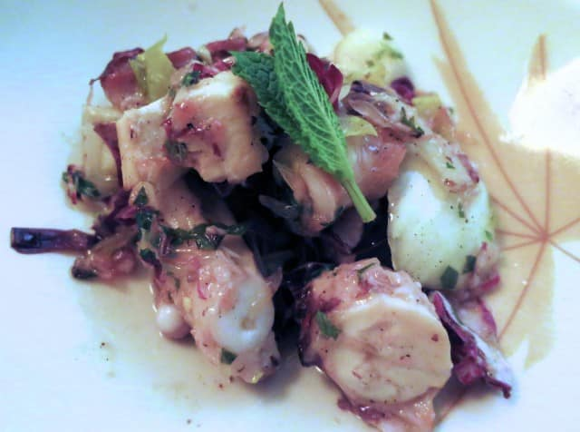 Fish Number 3 - Octopus with Radicchio, Endive, Fennel and Mint