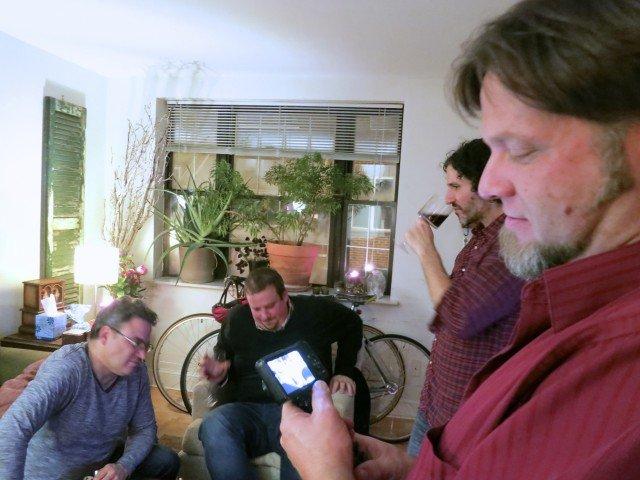 Daryl, Joe, Alec & Karl Chilling between Courses