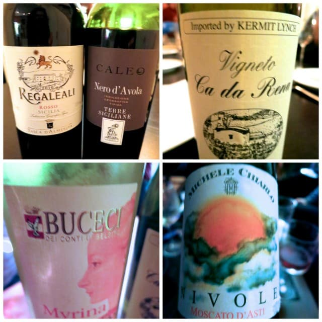 Some of the Evening's Many Wines