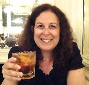 Mindi Enjoying a Sazerac, the Official Cocktail of New Orleans