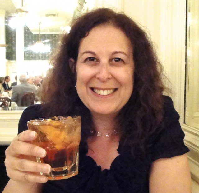 Mindi Enjoying a Sazerac, the Official Cocktail of New Orleans. Drinking in New Orleans
