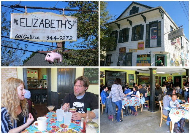 Elizabeth's Restaurant in New Orleans Louisiana