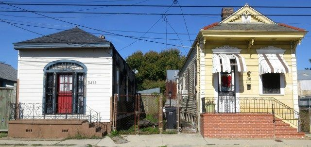 Bywater Houses in New Orleans Louisiana