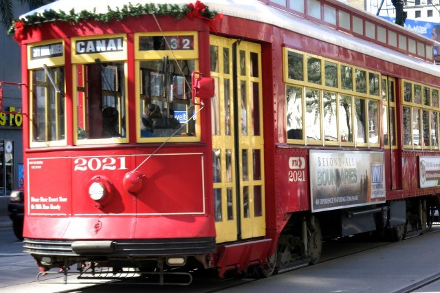 Canal Streetcar in New Orleans Louisiana