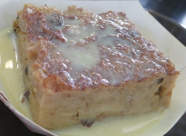 Homemade Bread Pudding with Rum Sauce at Parkway Bakery & Tavern in New Orleans