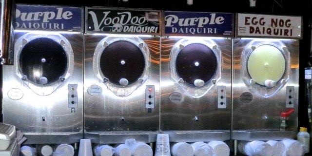 Purple VooDoo Machine at Lafitte's Blacksmith Shop. Drinking in New Orleans
