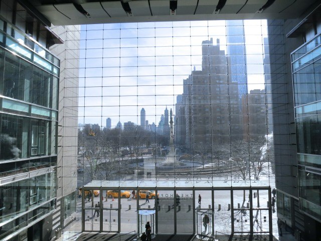 View from Inside the Time Warner Center in New York City