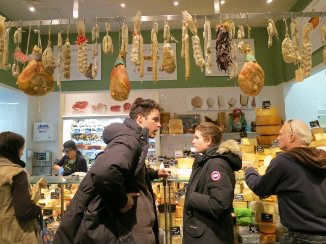 Shoppers at Eataly in New York City