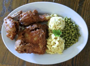 America's Best Fried Chicken with Two Sides at Willie Mae's Scotch House in New Orleans