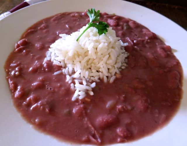 Red Beans and Rice Willie Mae's Scotch House in New Orleans Louisiana