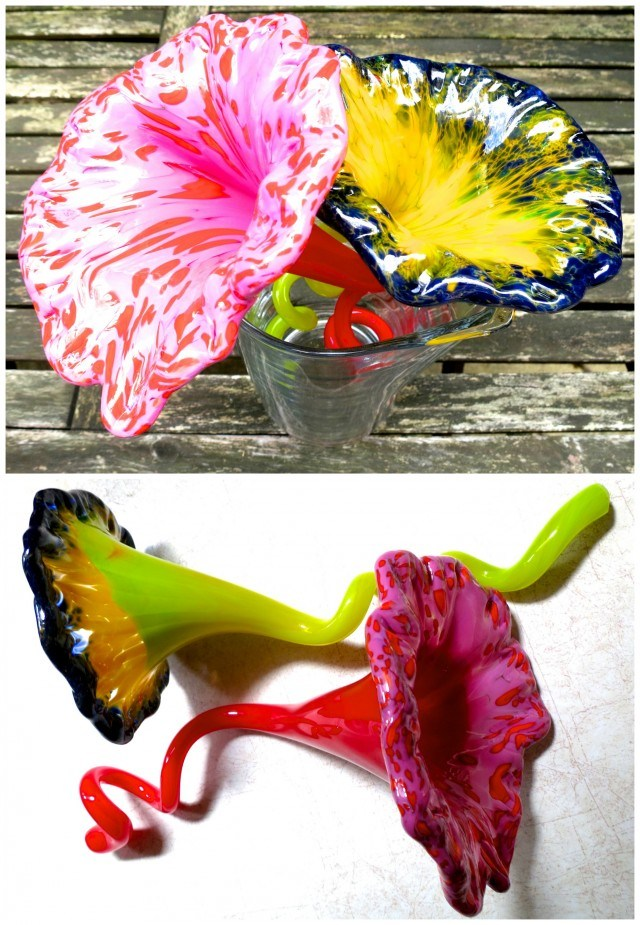 Glass Flowers Made by 2foodtrppers