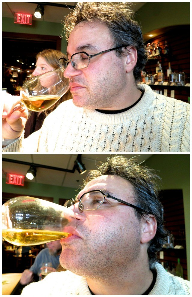 Daryl Tasting Wine in the Finger Lakes