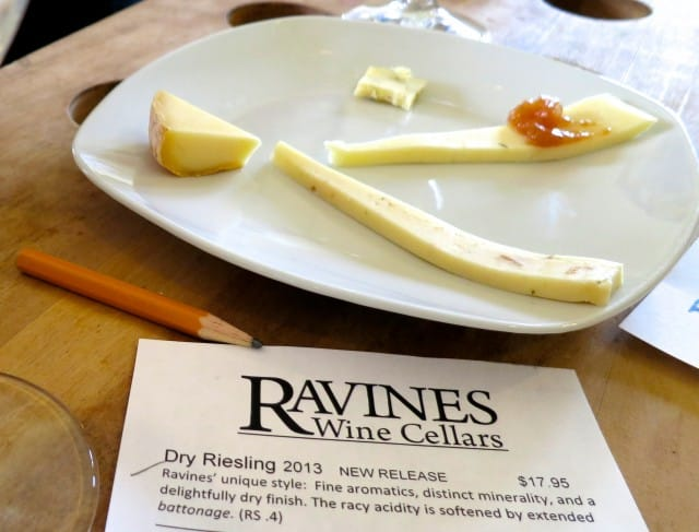 Wine and Cheese Tasting at Ravines Wine Cellars in the Finger Lakes