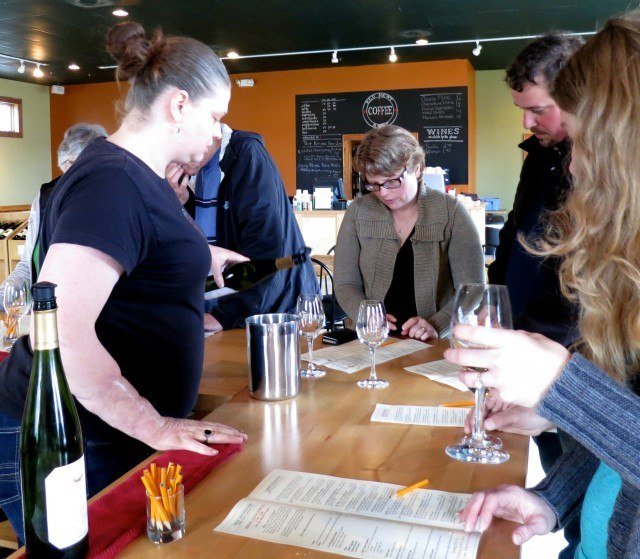 Wine Tasting with Friends at Red Newt Cellars Winery