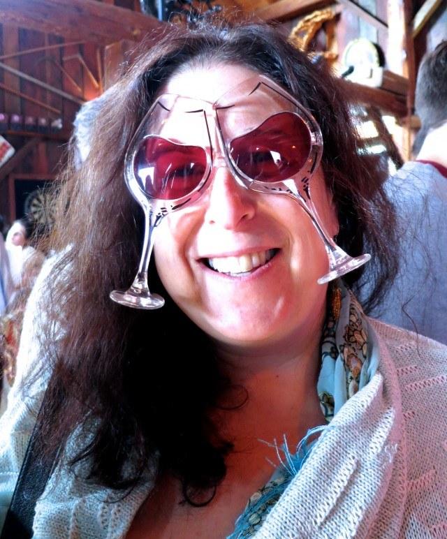 Mindi in Wine Glasses