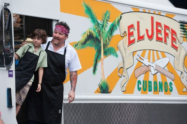 Jon Favreau and Emjay Anthony in Chef