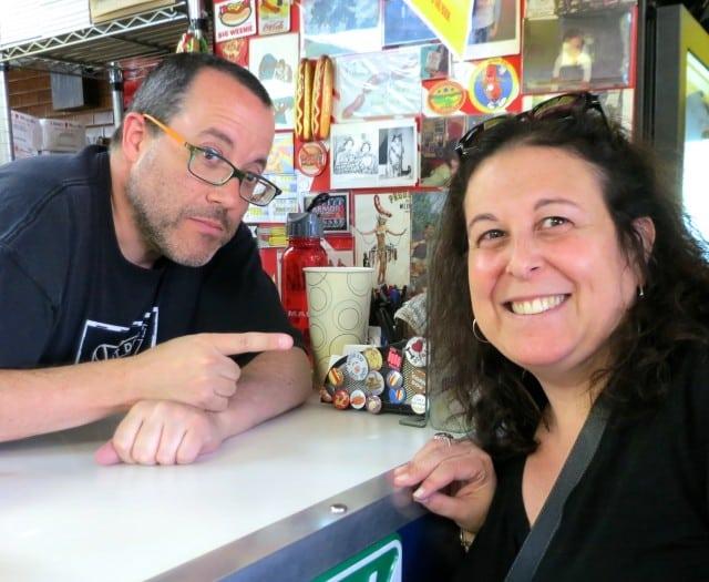 Mindi with Doug Sohn (a/k/a Hot Doug)