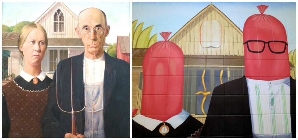 American Gothic Meets Hot Dog Gothic in Chicago