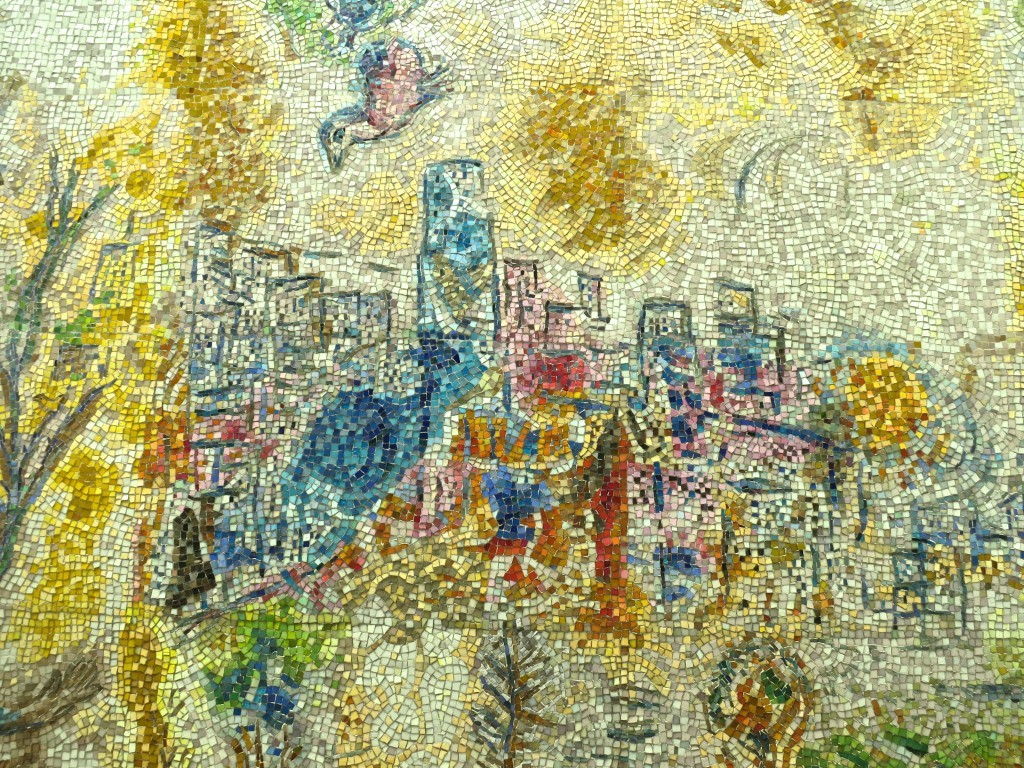 Four Seasons Mosaic by Marc Chagall in Downtown Chicago
