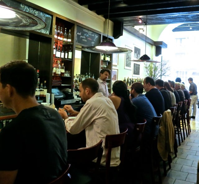 Lunchtime at the Bar at Union Square Cafe in New York