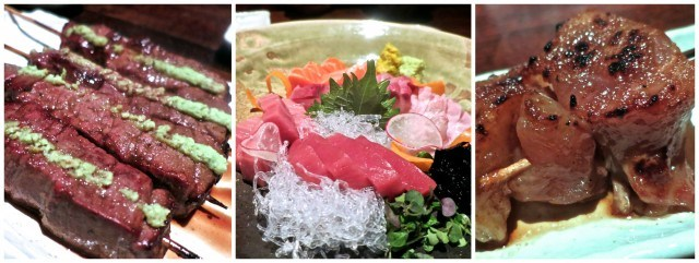 Kobe Skewers, Sashimi and Beef Tendon Raku Las Vegas. Las Vegas Restaurants