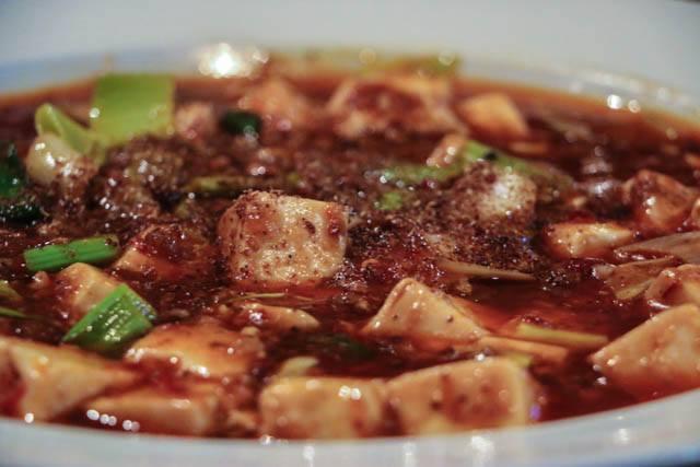 Mapo Tofu with Minced Pork at Han Dynasty in Philadelphia. China Memories