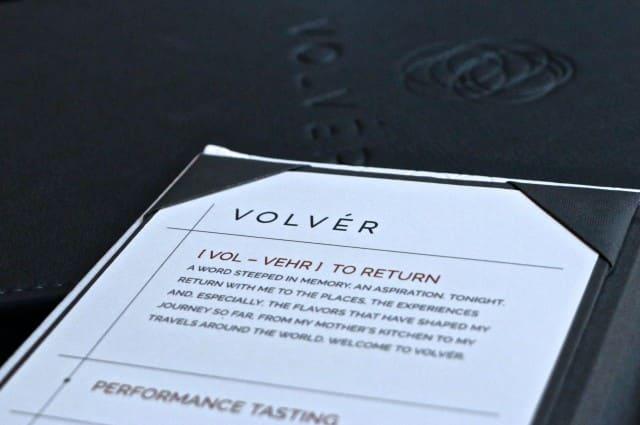 Menu at Volver Restaurant in Philadelphia Pennsylvania