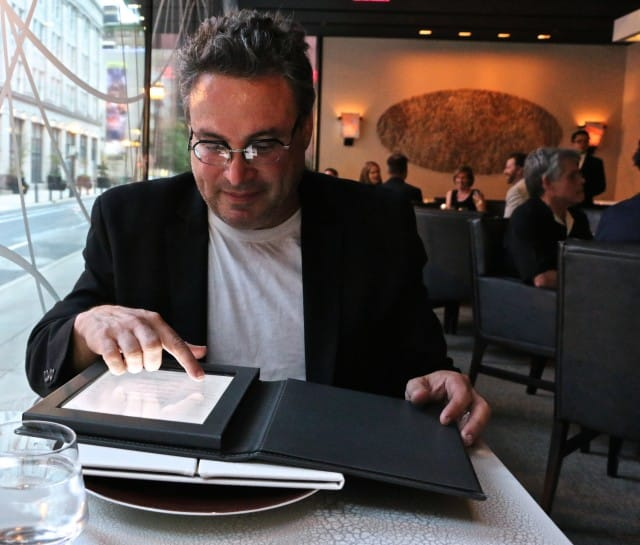 Daryl Checking out the Volvér Wine Menu Volvér Philadelphia Volver Restaurant