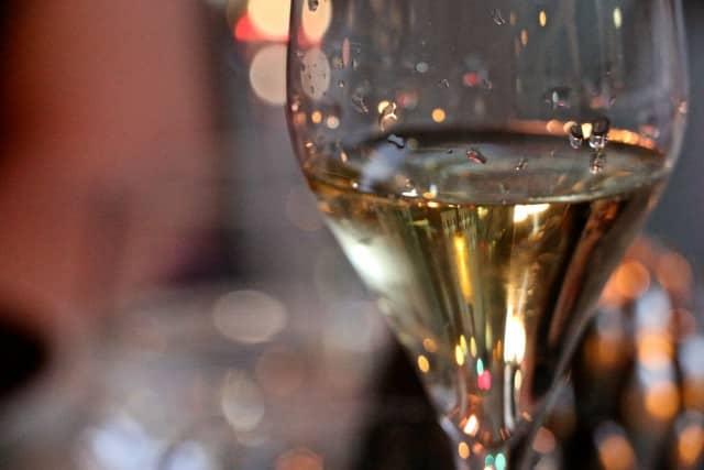 Glass of Champagne at Volver Restaurant in Philadelphia Pennsylvania