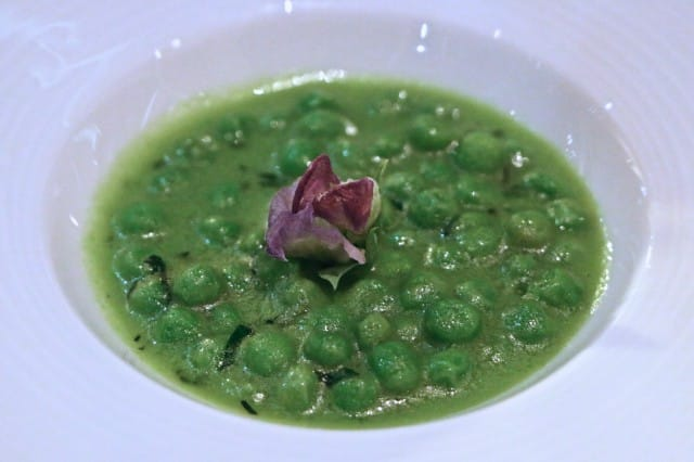 Course 8 - Petit Pois with Pea Butter Volvér Philadelphia Volver Restaurant