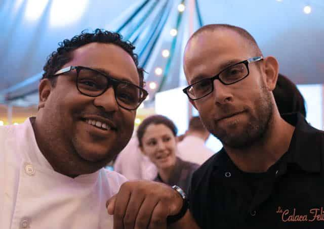 Chefs Kevin Sbraga and Tim Spinner, with Chef Natalie Maronski in the Background Feastival 2014