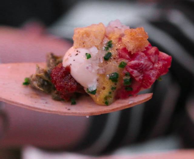 Bar Volver - Wagyu Tartare with Shallots, Dijon, Capers, Tomato and Herbs Feastival 2014