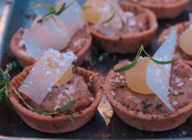 10 Arts - Farro and Parmesan Tart with Apple, Pork Belly and Sage Feastival 2014
