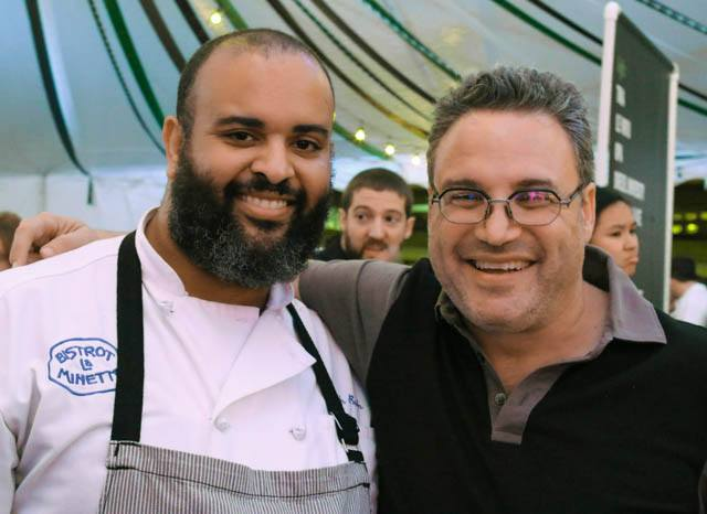 Daryl with Bistrot La Minette's Chef Kenneth Bush Feastival 2014