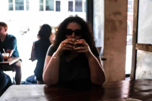 Mindi at Birch Coffee in NYC