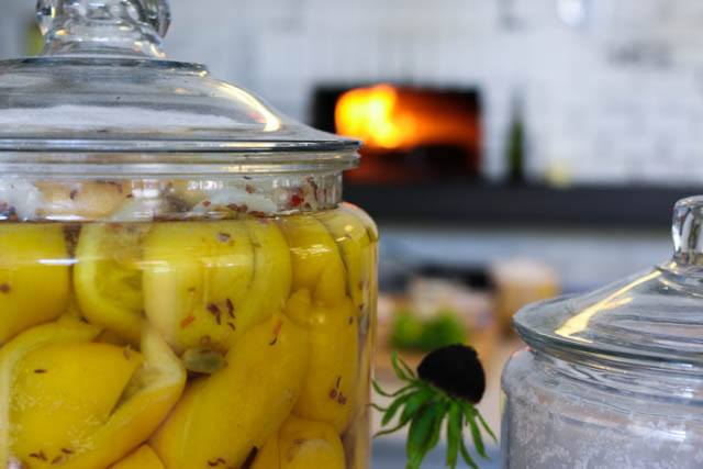 Inside Bar Sajor - Preserved Lemons and Wood Oven Stove Seattle