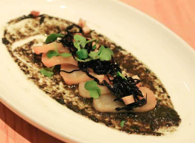 Joule Starter - Cold Smoked Escolar with Pine Nuts and Spicy Cod Roe Aioli