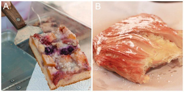 Pastries in Seattle and Napoli Italy