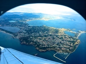 View of Naples Italy from Airplane