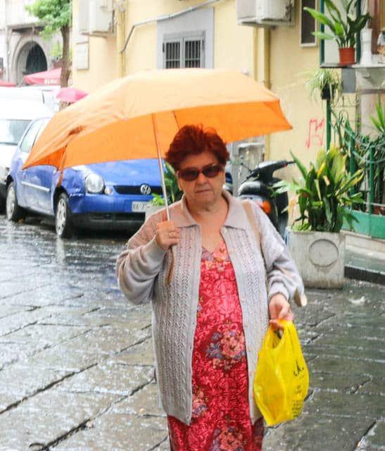 Italian Grandmother in Naples Italy Real Italian City