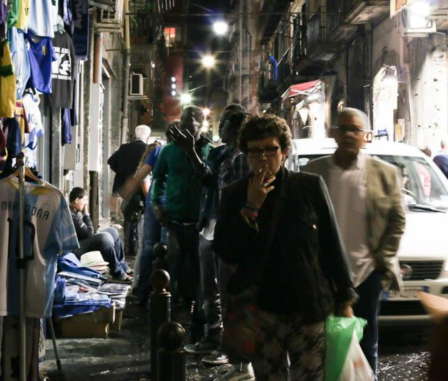 Via dei Tribunali at Night - Napoli Naples Italy Via dei Tribunali