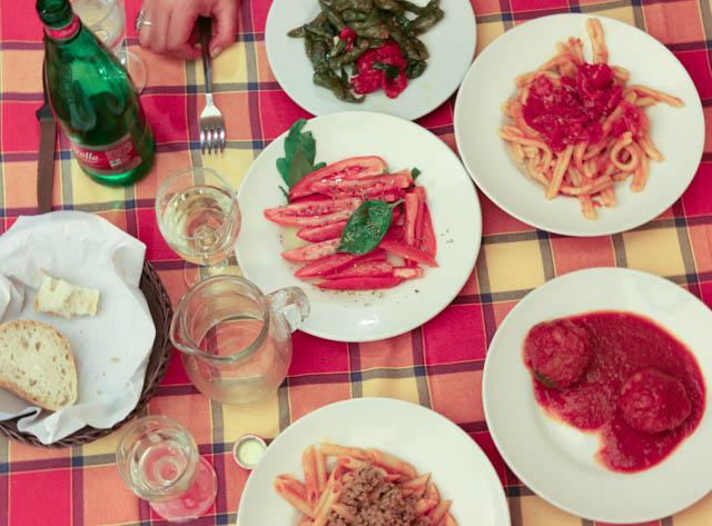 Feast at Trattoria da Carmine in Naples Italy